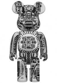 Gallery Image of Be@rbrick H.R. Giger (White Chrome Version) 100% & 400% Bearbrick