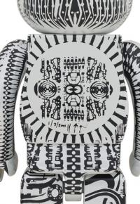 Gallery Image of Be@rbrick H.R. Giger (White Chrome Version) 1000% Collectible Figure