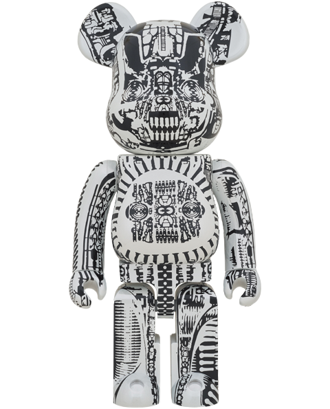 Medicom Toy Be@rbrick H.R. Giger (White Chrome Version) 1000% Collectible Figure