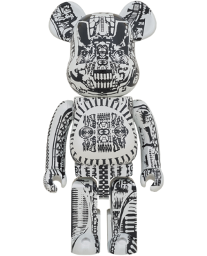 Be@rbrick H.R. Giger (White Chrome Version) 1000% Collectible Figure