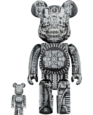 Be@rbrick H.R. Giger (Black Chrome Version) 100% & 400% Bearbrick