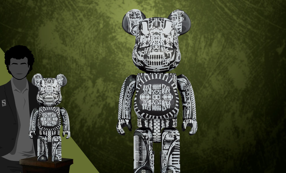 Gallery Feature Image of Be@rbrick H.R. Giger (Black Chrome Version) 1000% Bearbrick - Click to open image gallery