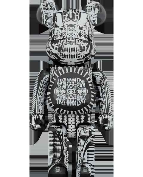 Medicom Toy Be@rbrick H.R. Giger (Black Chrome Version) 1000% Bearbrick