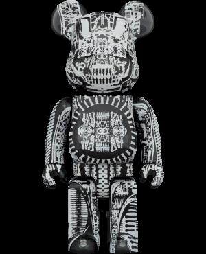 Be@rbrick H.R. Giger (Black Chrome Version) 1000% Bearbrick