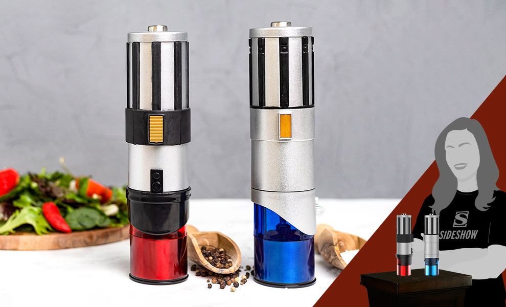 Gallery Feature Image of Lightsaber Electric Salt & Pepper Mill Grinder Kitchenware - Click to open image gallery