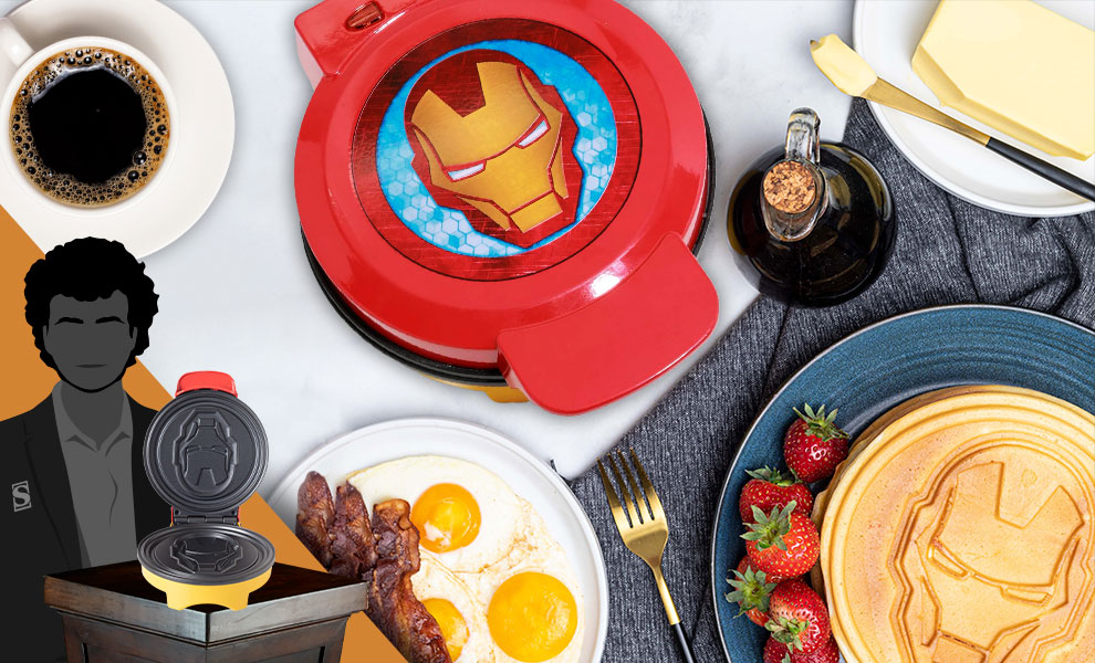 Gallery Feature Image of Iron Man Waffle Maker Kitchenware - Click to open image gallery