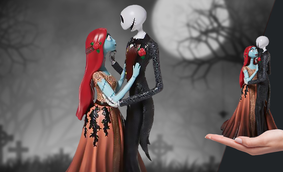 Gallery Feature Image of Jack and Sally Couture de Force Figurine - Click to open image gallery