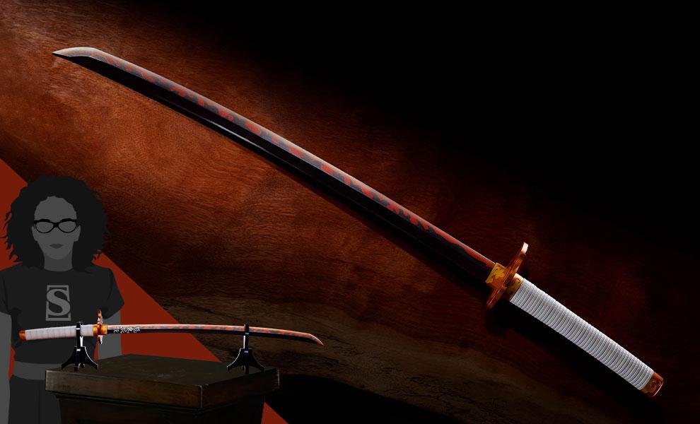 Gallery Feature Image of Nichirin Sword (Kyojuro Rengoku) Replica - Click to open image gallery