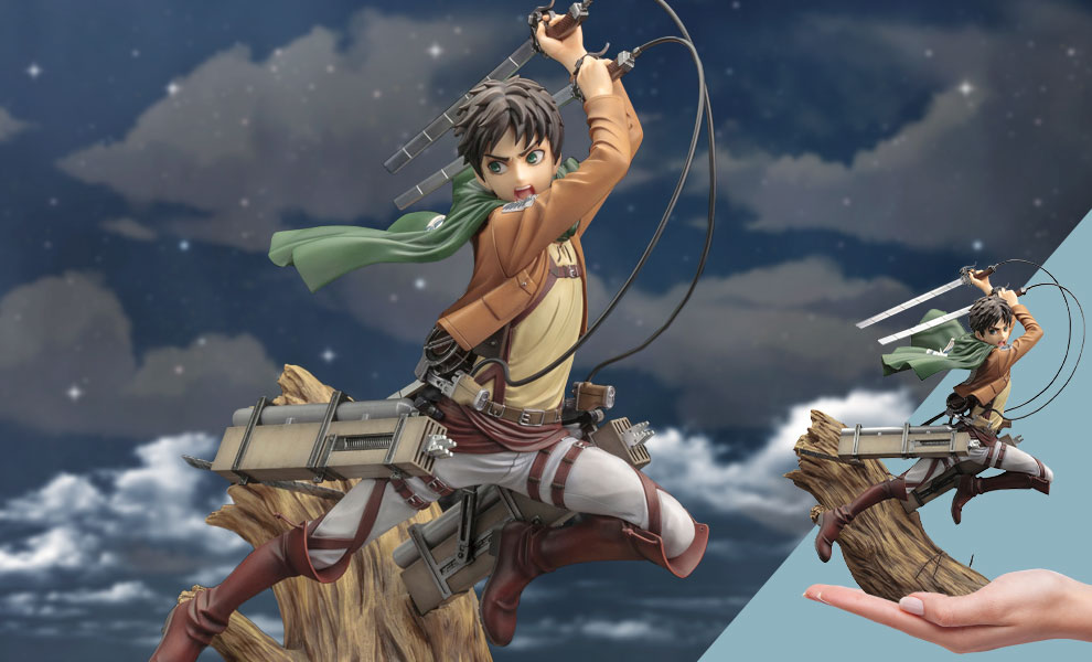 Gallery Feature Image of Eren Yeager (Renewal Package Variant) Statue - Click to open image gallery