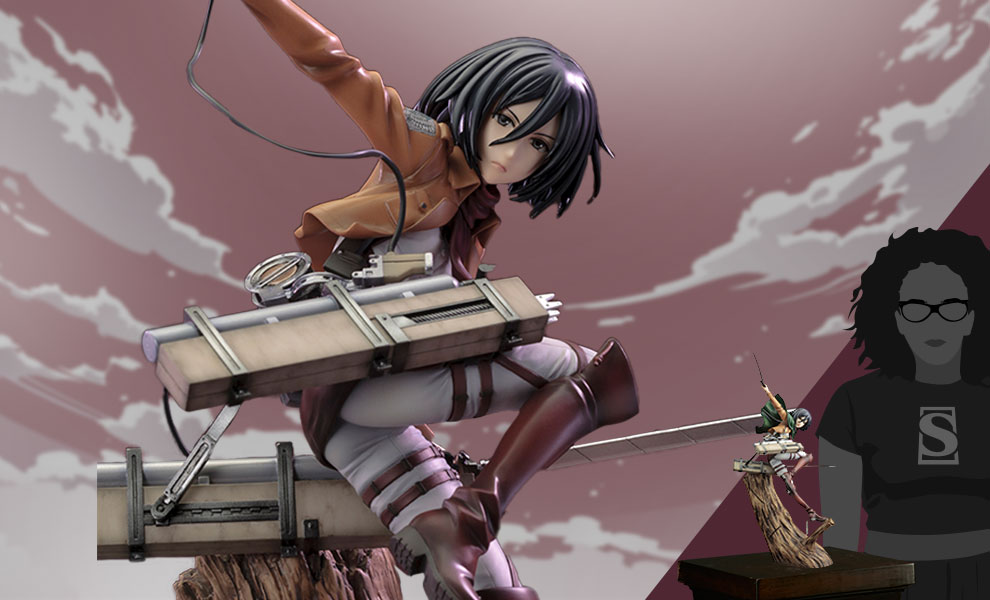 Gallery Feature Image of Mikasa Ackerman (Renewal Package Variant) Statue - Click to open image gallery