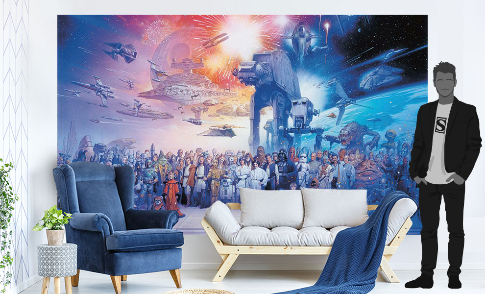 Gallery Feature Image of Star Wars Saga Wallpaper Mural Mural - Click to open image gallery