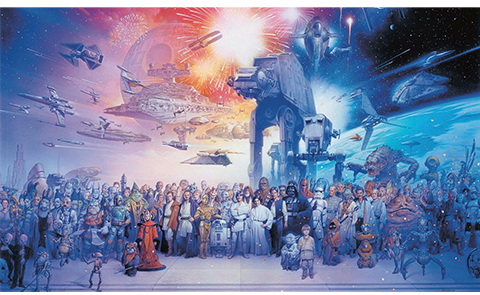 RoomMates Star Wars Saga Wallpaper Mural Mural