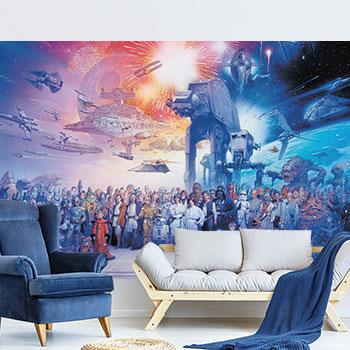 Star Wars Saga Wallpaper Mural Mural