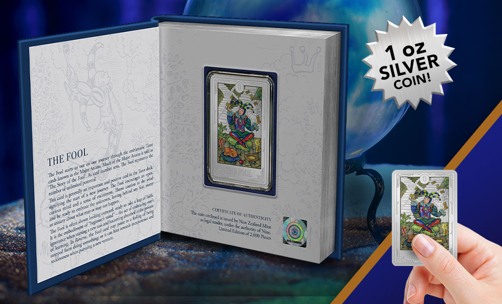 Gallery Feature Image of The Fool Silver Coin Silver Collectible - Click to open image gallery