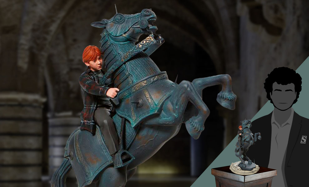 Gallery Feature Image of Ron on Chess Horse Figurine - Click to open image gallery