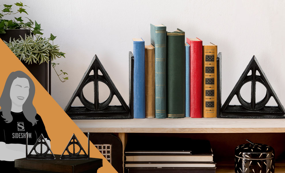 Gallery Feature Image of Deathly Hallows Bookends Office Supplies - Click to open image gallery