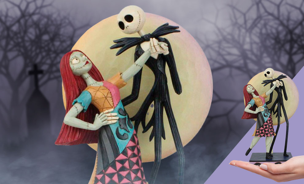 Gallery Feature Image of Jack and Sally Romance Figurine - Click to open image gallery
