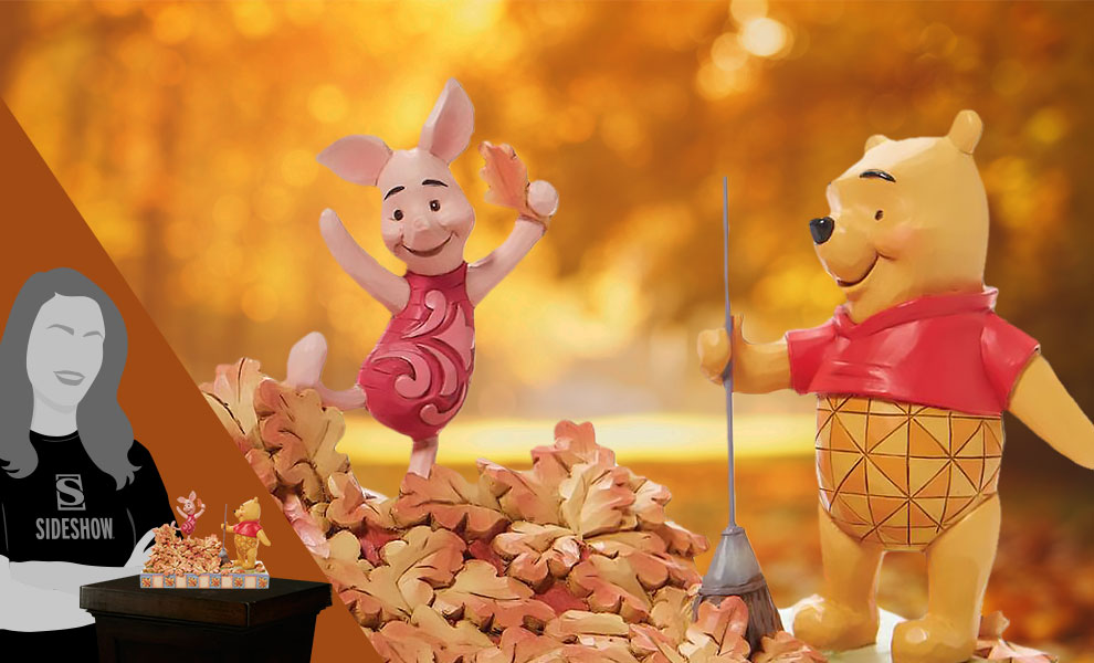 Gallery Feature Image of Pooh and Piglet Fall Figurine - Click to open image gallery