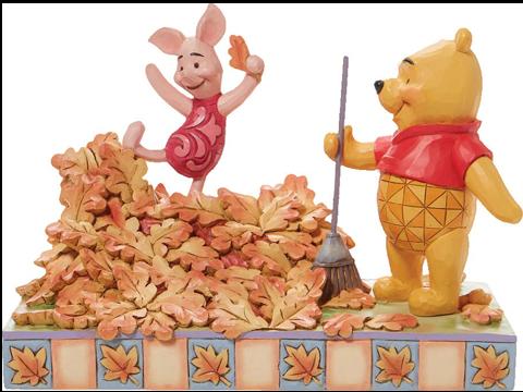 Enesco, LLC Pooh and Piglet Fall Figurine