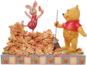 Pooh and Piglet Fall Figurine