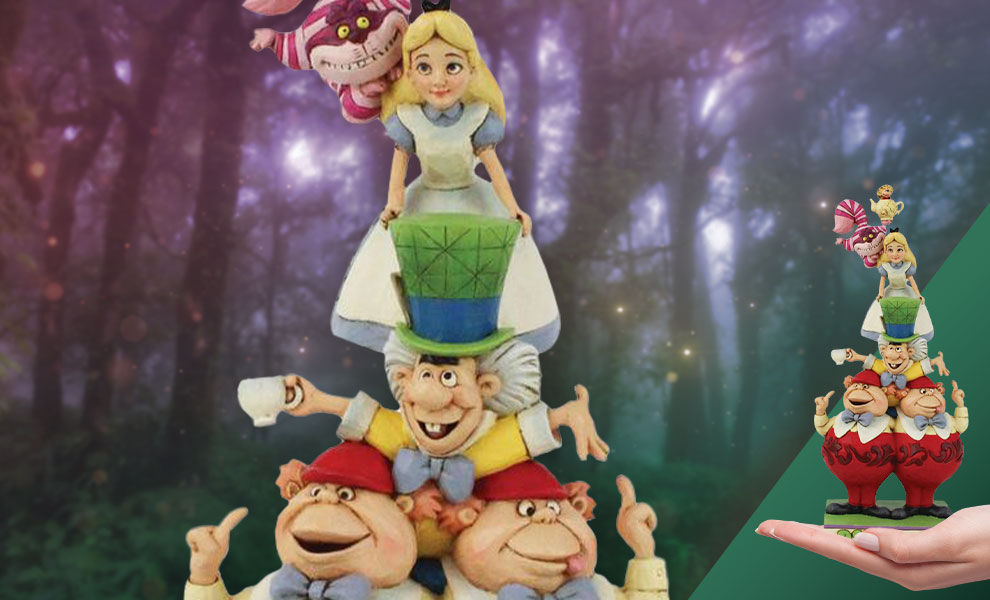 Gallery Feature Image of Alice in Wonderland Stacked Figurine - Click to open image gallery