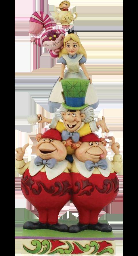 Enesco, LLC Alice in Wonderland Stacked Figurine