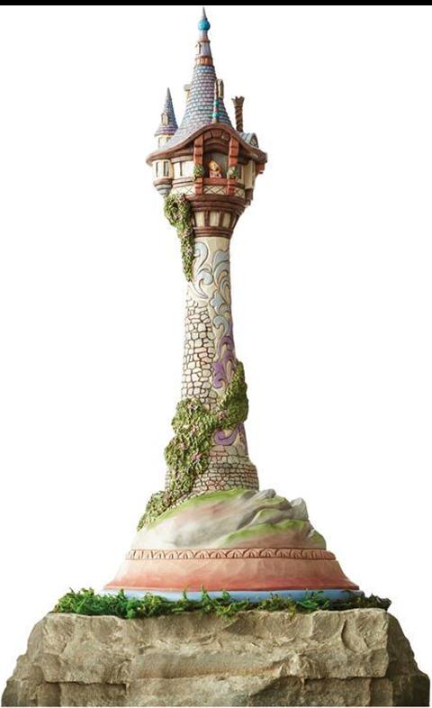 Enesco, LLC Masterpiece Rapunzel Tower Figurine