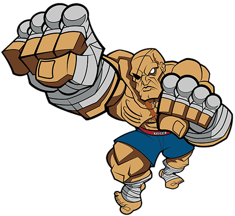 Icon Heroes Sagat Collectible Pin