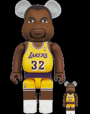 Be@rbrick Magic Johnson (Los Angeles Lakers) 100% and 400% Bearbrick