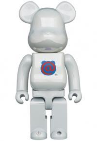 Gallery Image of Be@rbrick 1st Model White Chrome 400% Bearbrick
