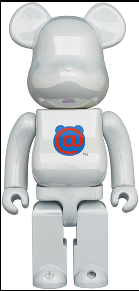 Medicom Toy Be@rbrick 1st Model White Chrome 400% Bearbrick