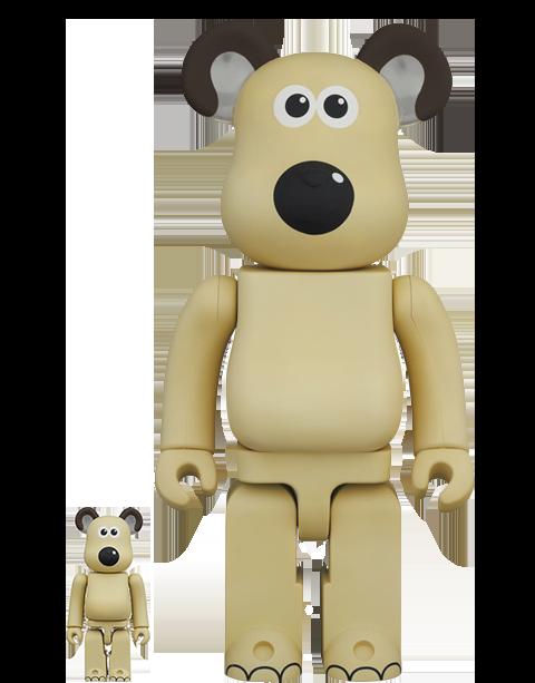 Medicom Toy Be@rbrick Gromit 100% and 400% Bearbrick