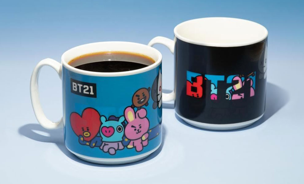 Gallery Feature Image of BT21 Heat Change Mug Mug - Click to open image gallery
