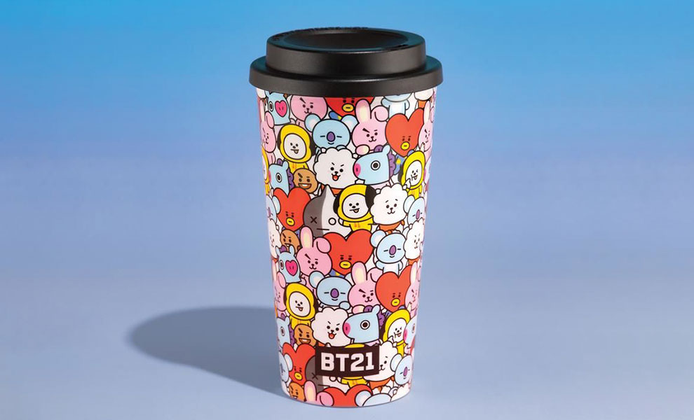 Gallery Feature Image of BT21 Travel Mug Travel Mug - Click to open image gallery