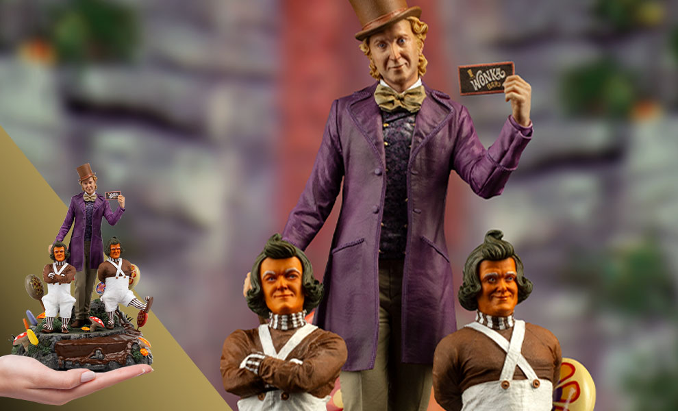 Gallery Feature Image of Willy Wonka Deluxe 1:10 Scale Statue - Click to open image gallery