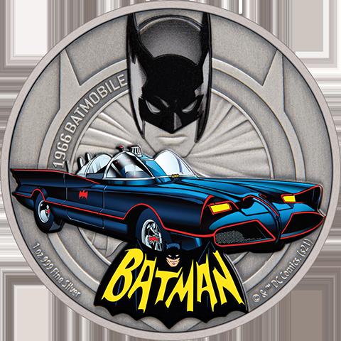New Zealand Mint 1966 Batmobile 1oz Silver Coin Silver Collectible