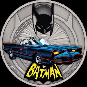 1966 Batmobile 1oz Silver Coin Silver Collectible