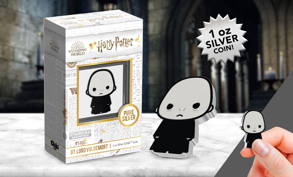 Gallery Feature Image of Lord Voldemort™ Silver Coin Silver Collectible - Click to open image gallery
