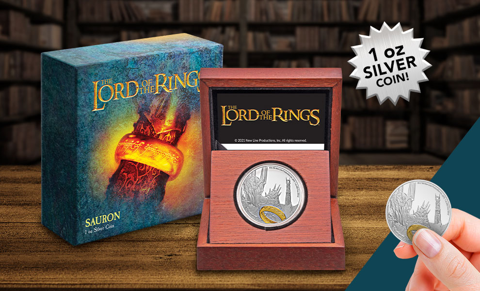 Gallery Feature Image of Sauron Silver Coin Silver Collectible - Click to open image gallery