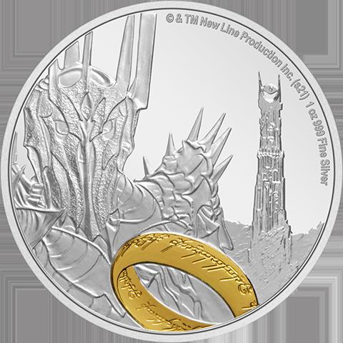 New Zealand Mint Sauron Silver Coin Silver Collectible