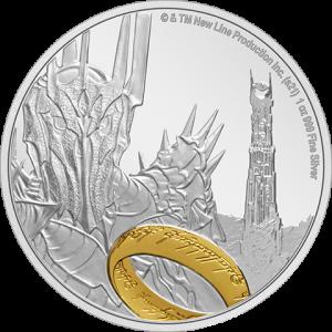 Sauron Silver Coin Silver Collectible