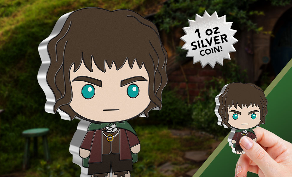 Gallery Feature Image of Frodo Baggins Silver Coin Silver Collectible - Click to open image gallery