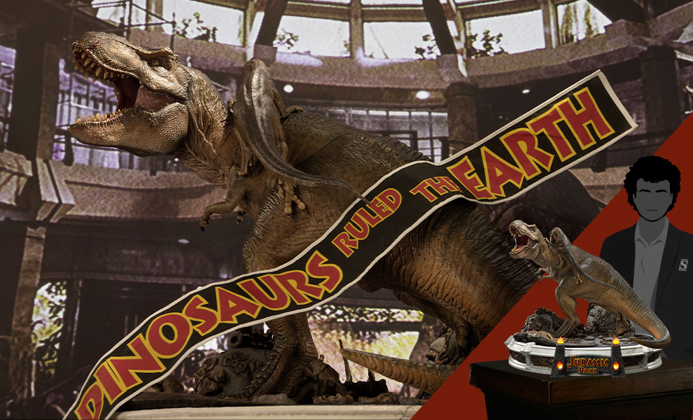 Gallery Feature Image of T-Rex Vs Velociraptors in the Rotunda Diorama - Click to open image gallery