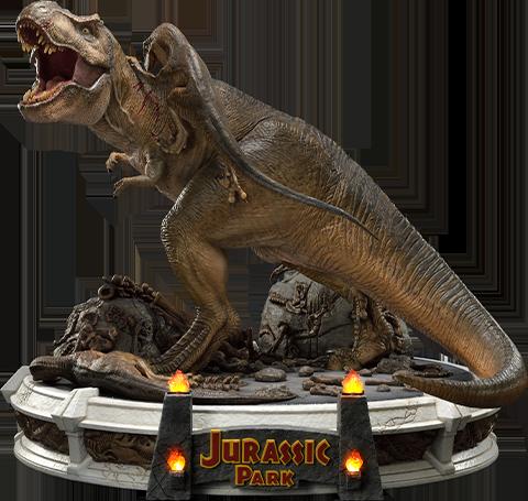 Prime 1 Studio T-Rex Vs Velociraptors in the Rotunda Diorama