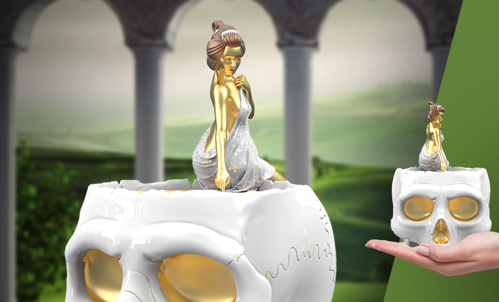 Gallery Feature Image of Warm Thoughts (Golden Touch Edition) Polystone Statue - Click to open image gallery
