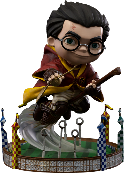Iron Studios Harry Potter at the Quidditch Match Mini Co. Collectible Figure