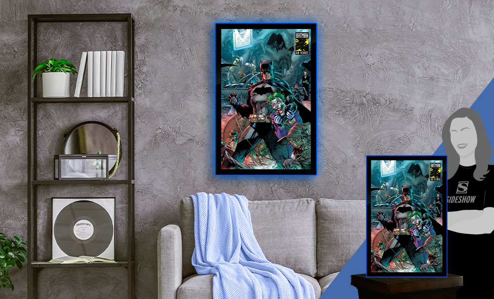Gallery Feature Image of Batman 80 LED Poster Sign (Large) Wall Light - Click to open image gallery