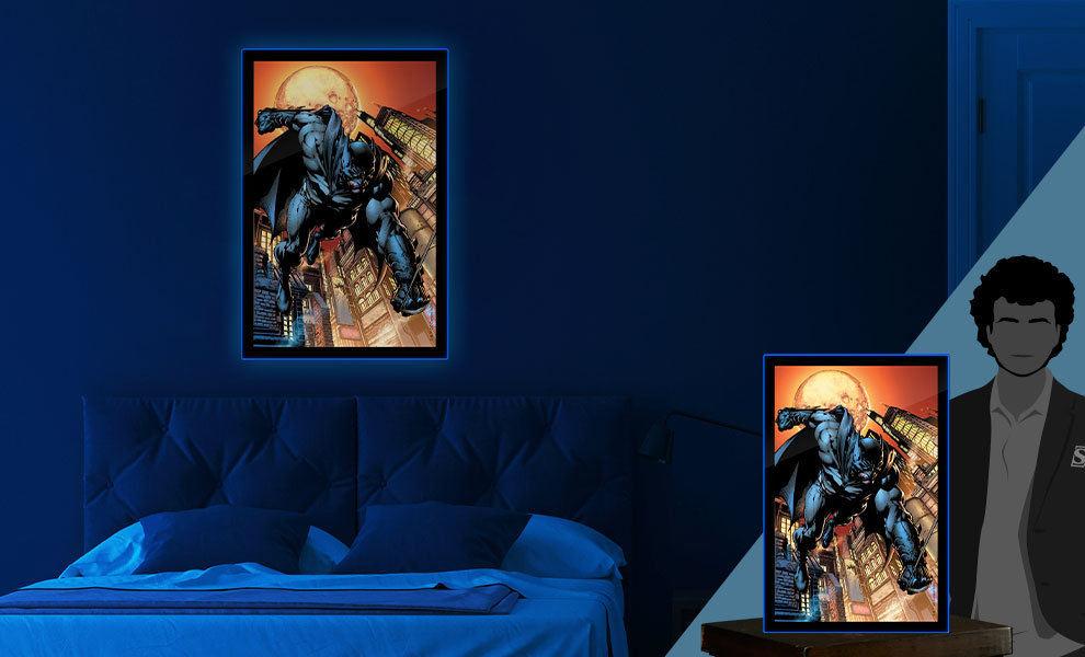 Gallery Feature Image of Batman LED Poster Sign (Large) Wall Light - Click to open image gallery