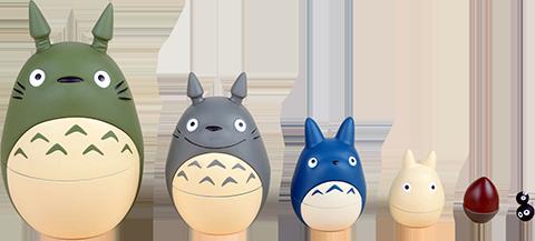Ensky Totoro Nesting Dolls Collectible Set