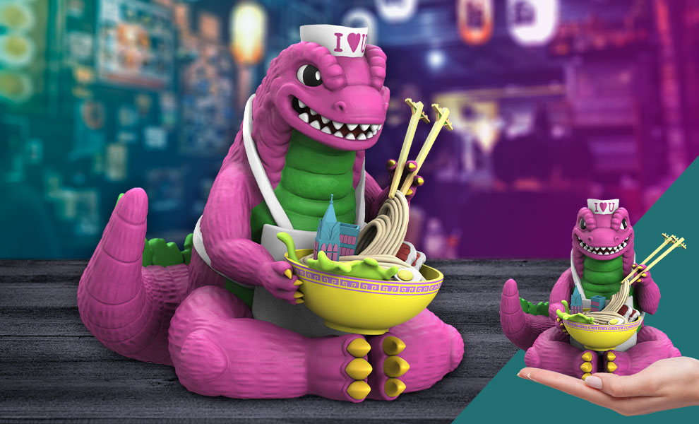 Gallery Feature Image of Kaiju's Ramen (Bad Dino Edition) Vinyl Collectible - Click to open image gallery